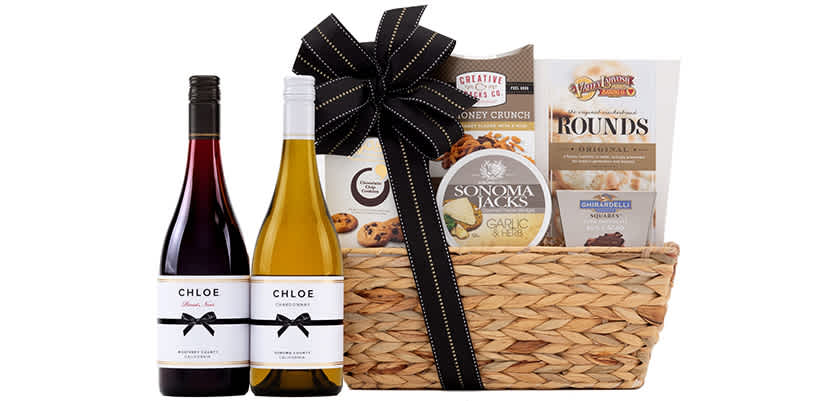Wine Gift Baskets Popular Wines Paired with Treats