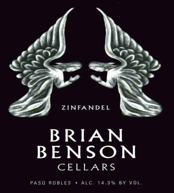 Flat front label of wine. Brian Benson Cellars Zinfandel 2014 & Shop Brian Benson Cellars Wine | Wine.com