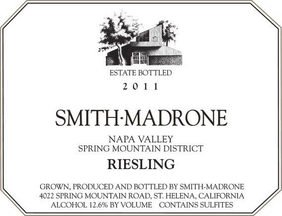 Smith Madrone Riesling 2011  Front Label