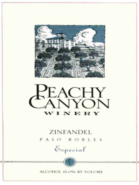 Peachy Canyon Especial Zinfandel 2006 Front Label