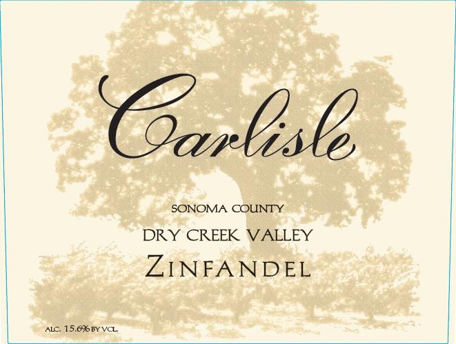 Carlisle Dry Creek Valley Zinfandel 2015 Front Label