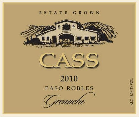 Cass Winery Grenache 2010 Front Label
