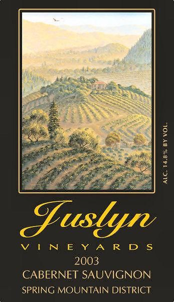 Juslyn Spring Mountain Cabernet Sauvignon 2003 Front Label