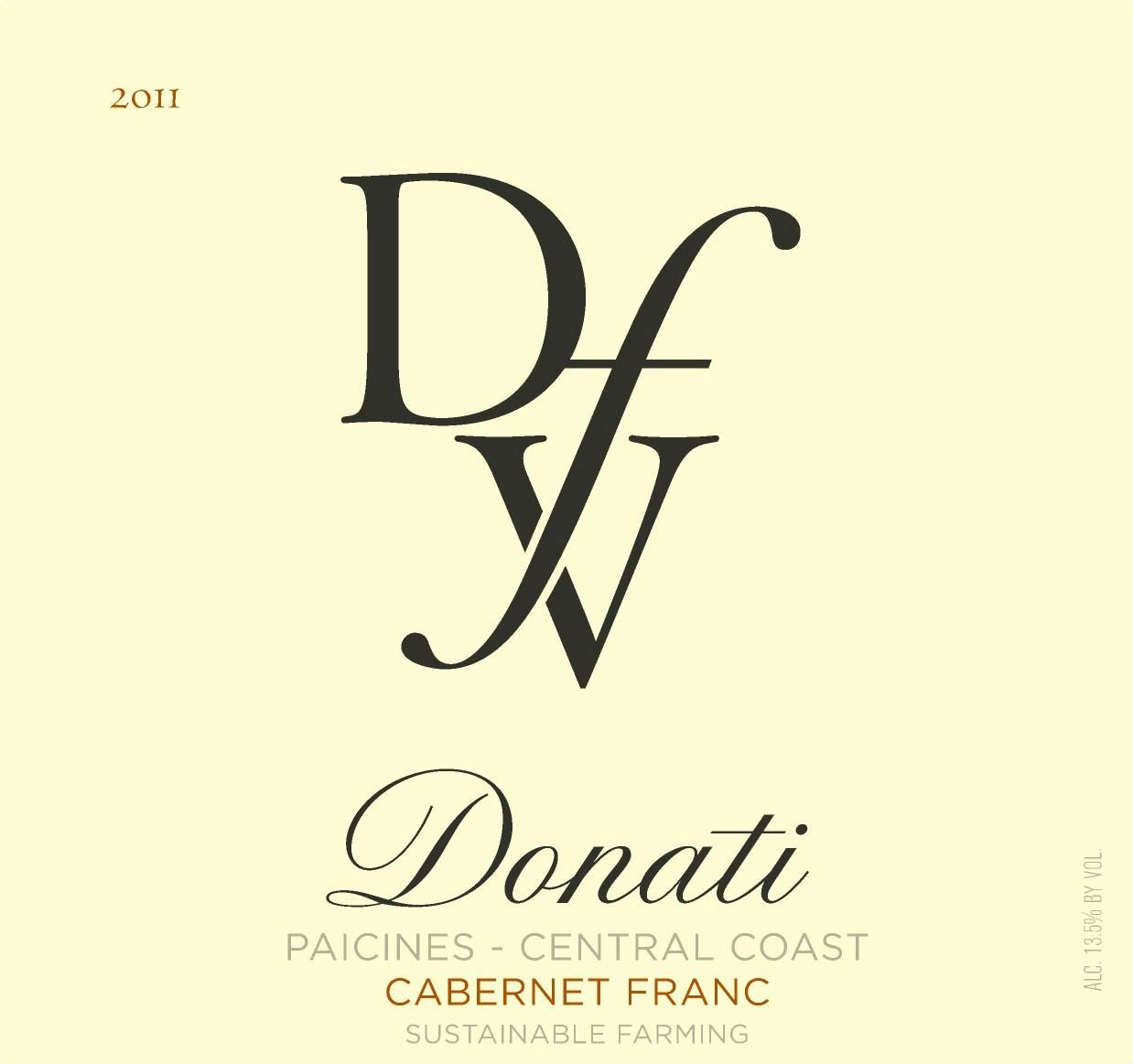 Donati Family Vineyards Cabernet Franc 2011  Front Label