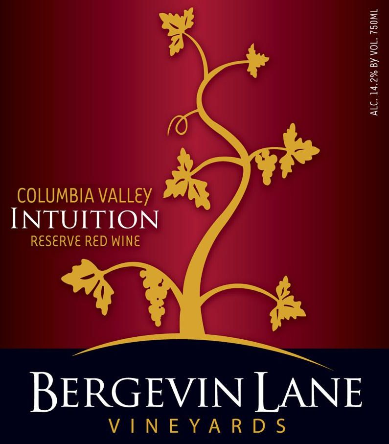 Bergevin Lane Intuition Reserve Red 2011 Front Label