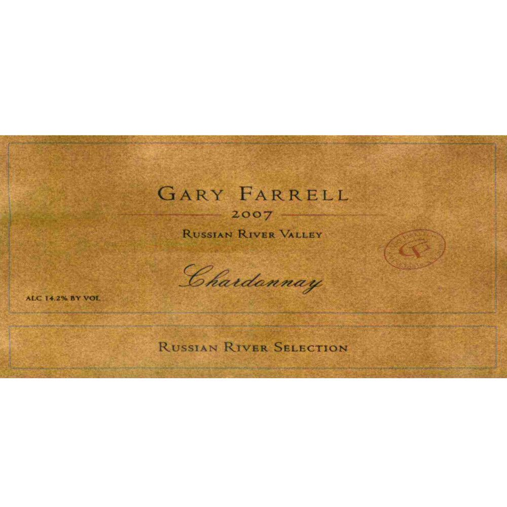 Gary Farrell Russian River Selection Chardonnay 2007 Front Label
