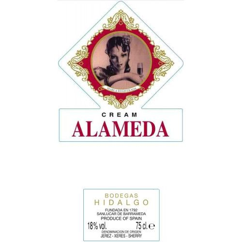 Hidalgo Alameda Cream Sherry (500ML) Front Label