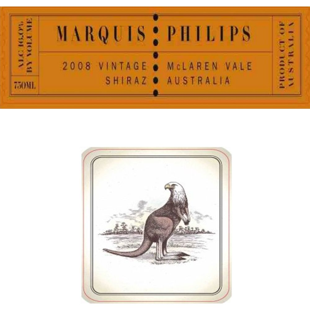 Marquis Philips Shiraz 2008 Front Label