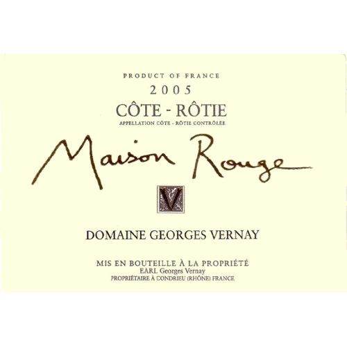 Georges Vernay Cote-Rotie Maison Rouge 2005 Front Label