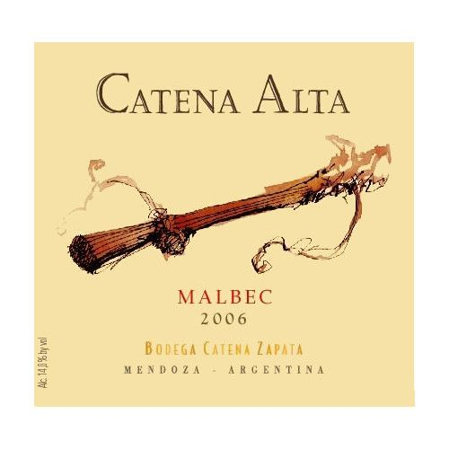 Catena Alta Malbec 2006 Front Label
