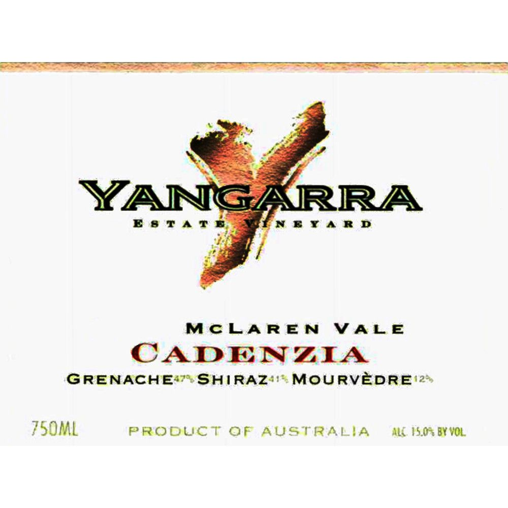 Yangarra Estate Cadenzia 2006 Front Label