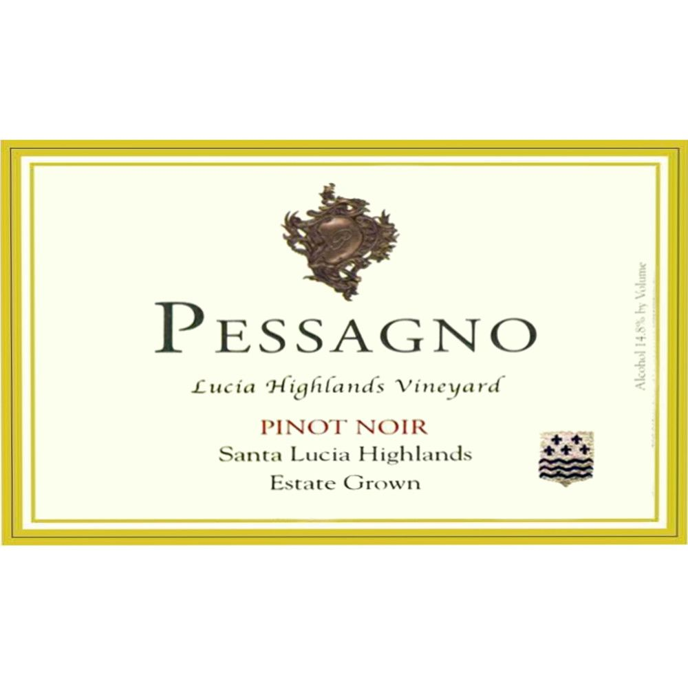 Pessagno Winery Lucia Highlands Estate Pinot Noir 2007 Front Label