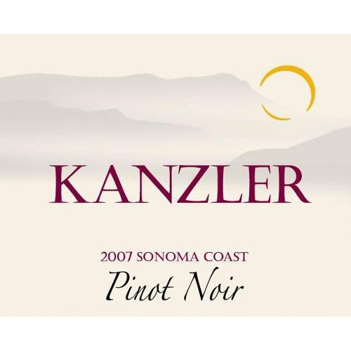 Kanzler Vineyards Pinot Noir 2007 Front Label