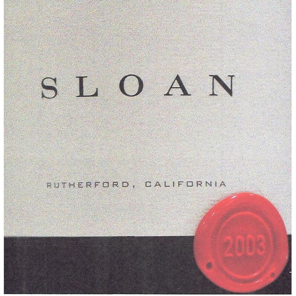 Sloan Proprietary Red 2003 Front Label