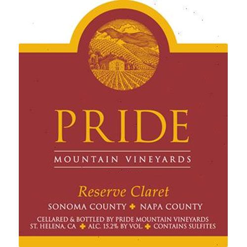 Pride Mountain Vineyards Reserve Claret 2002 Front Label
