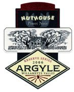 Argyle Nuthouse Pinot Noir 2006 Front Label