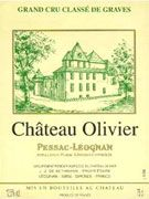Chateau Olivier Blanc 2003 Front Label
