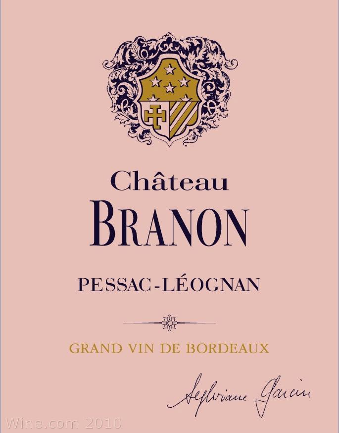 Chateau Branon  2005 Front Label