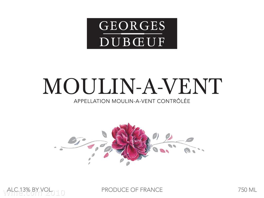 Duboeuf Moulin-a-Vent 2008 Front Label