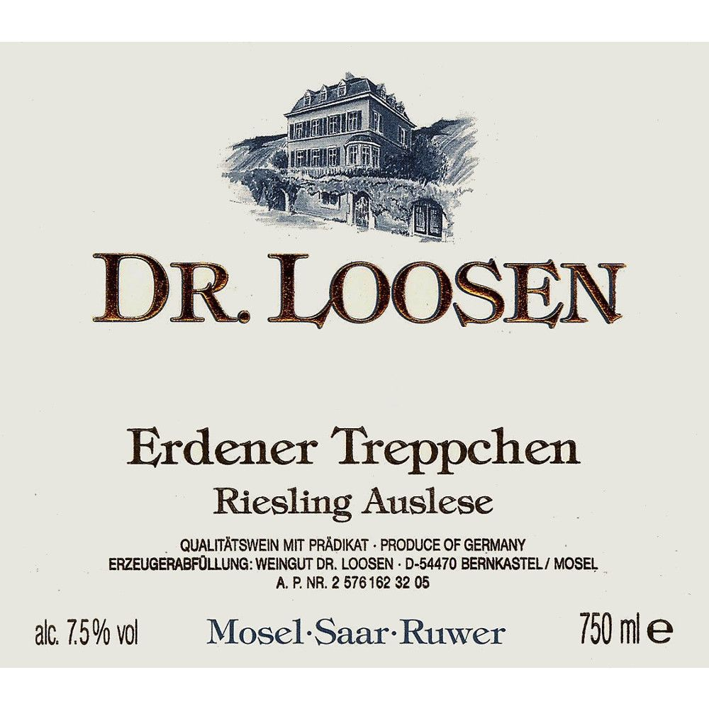 Dr. Loosen Erdener Treppchen Auslese (375ML half-bottle) 2006 Front Label