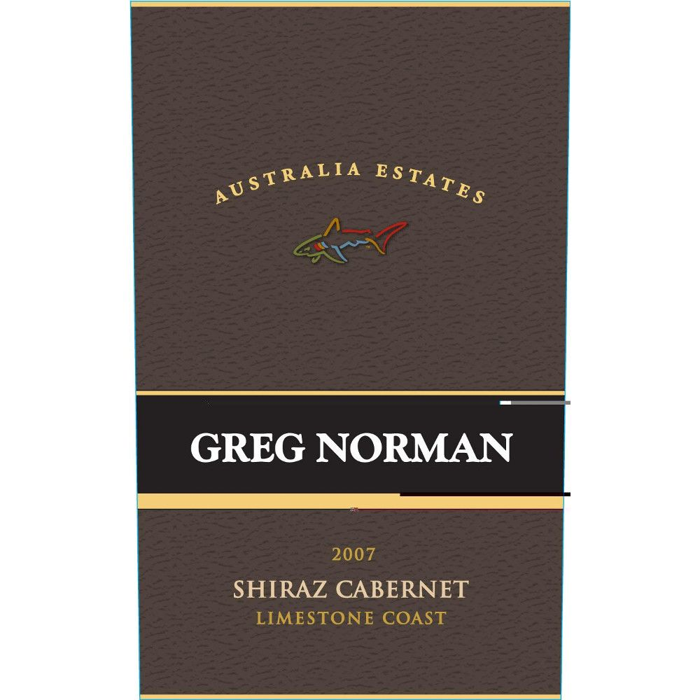 Greg Norman Estates Shiraz/Cabernet 2007 Front Label