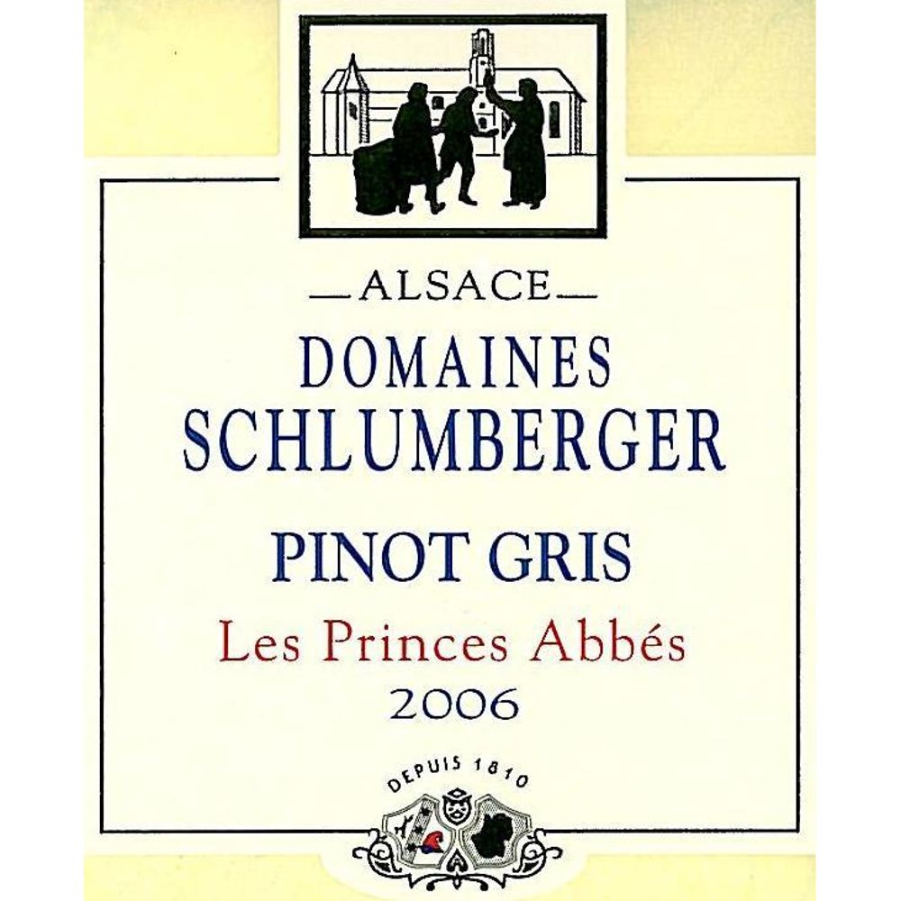 Domaines Schlumberger Les Princes Abbes Pinot Gris 2006 Front Label