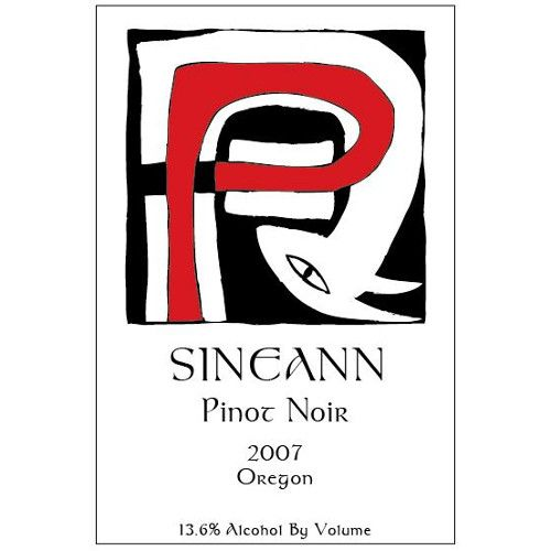 Sineann Pinot Noir (half-bottle) 2007 Front Label