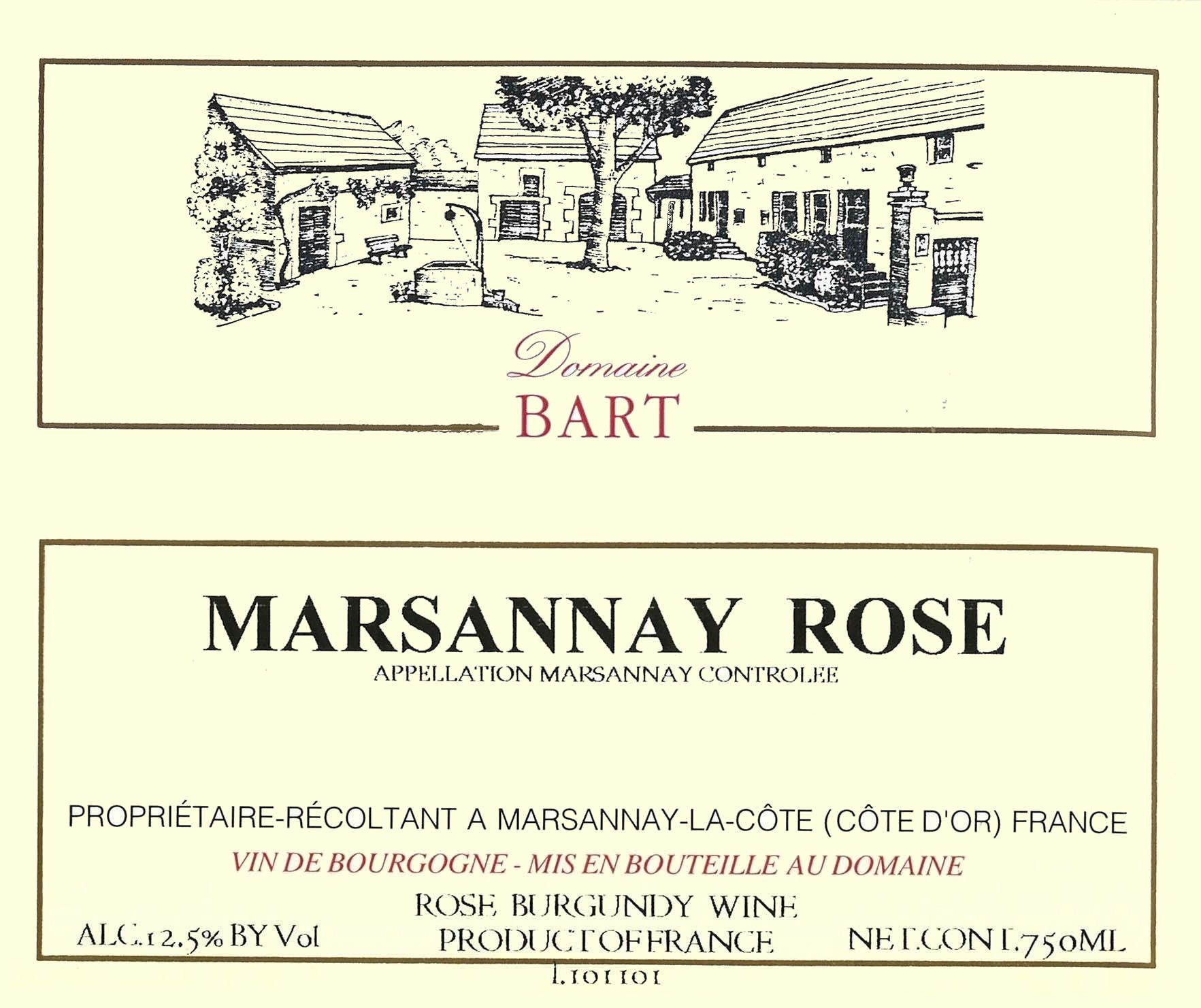 Andre Bart Marsannay Rose 2015 Front Label