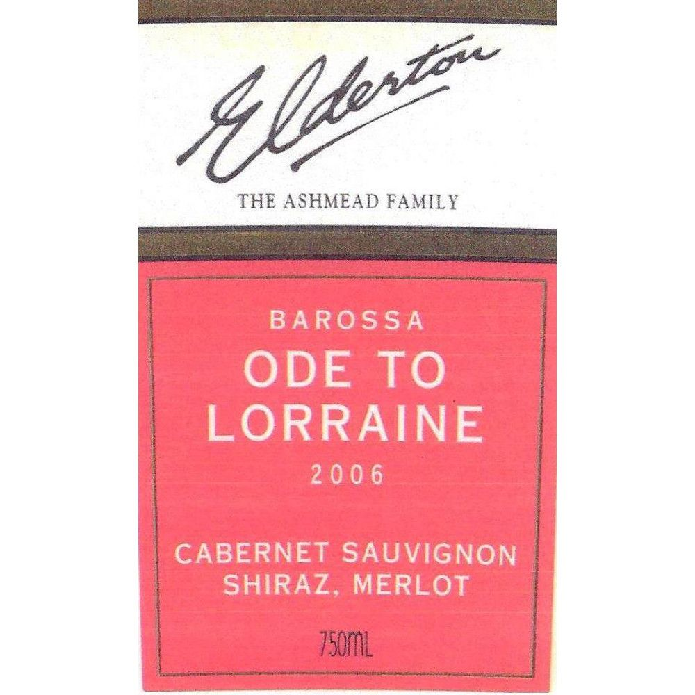 Elderton Ode To Lorraine 2006 Front Label
