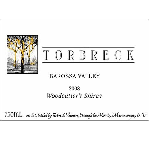 Torbreck Woodcutters Shiraz 2008 Front Label