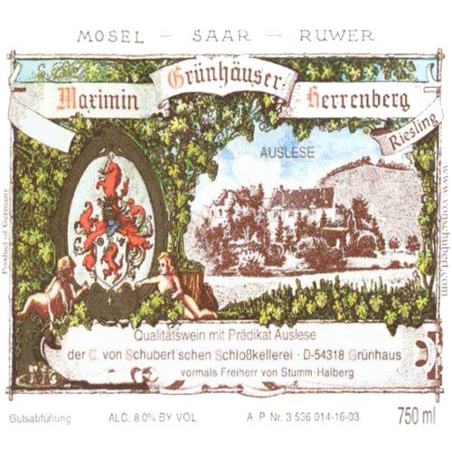 Maximin Grunhauser Herrenberg Riesling Auslese 2006 Front Label