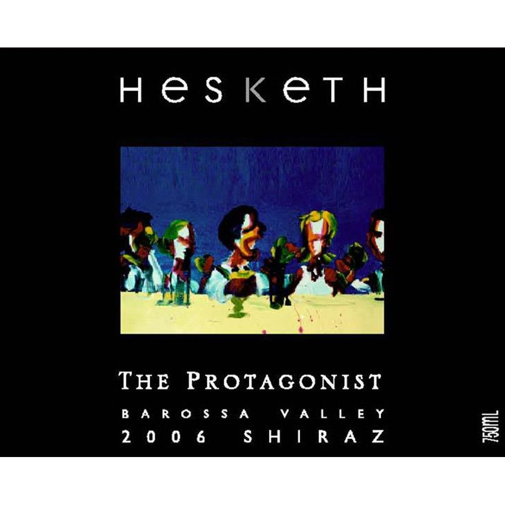 Hesketh The Protagonist Shiraz 2006 Front Label