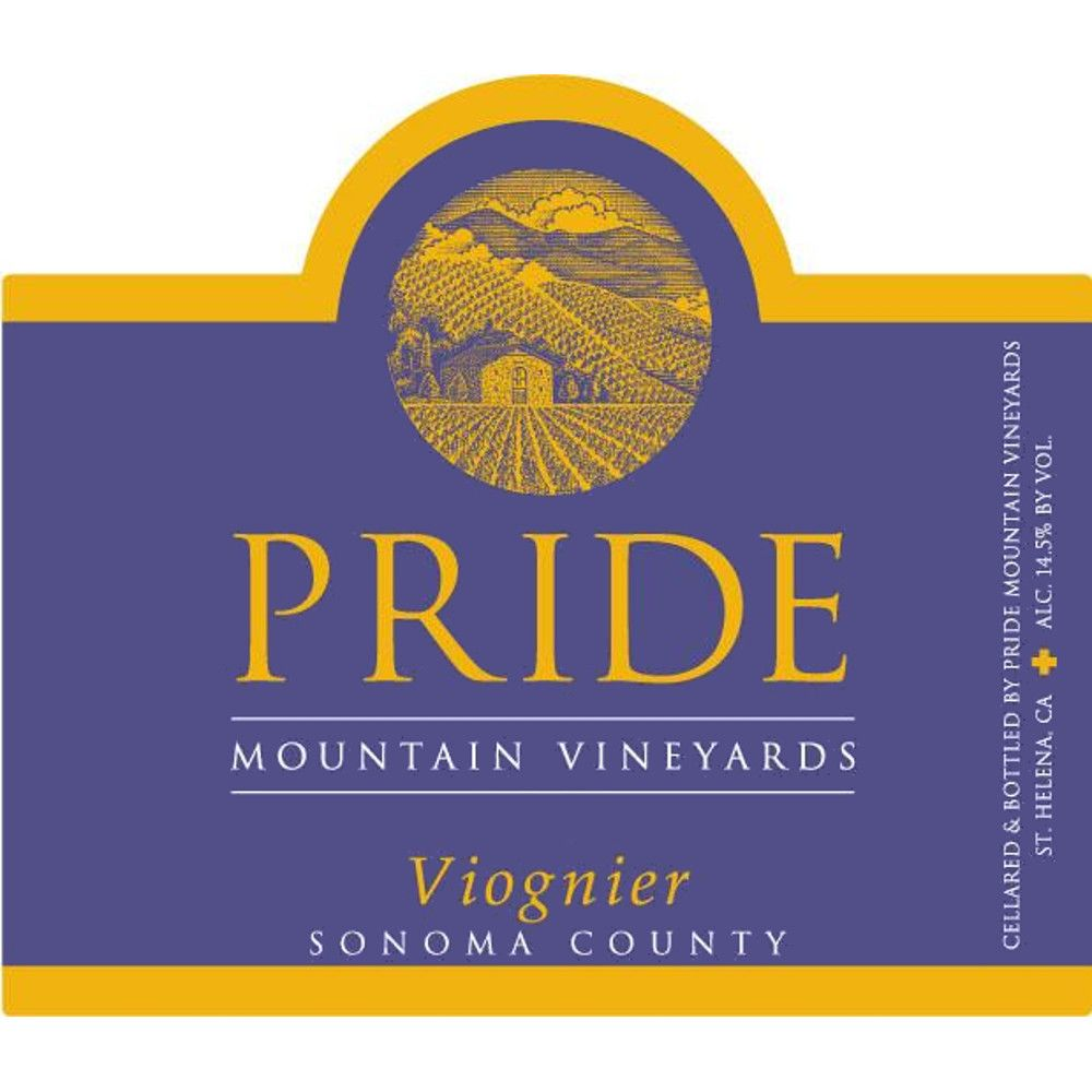 Pride Mountain Vineyards Viognier 2008 Front Label