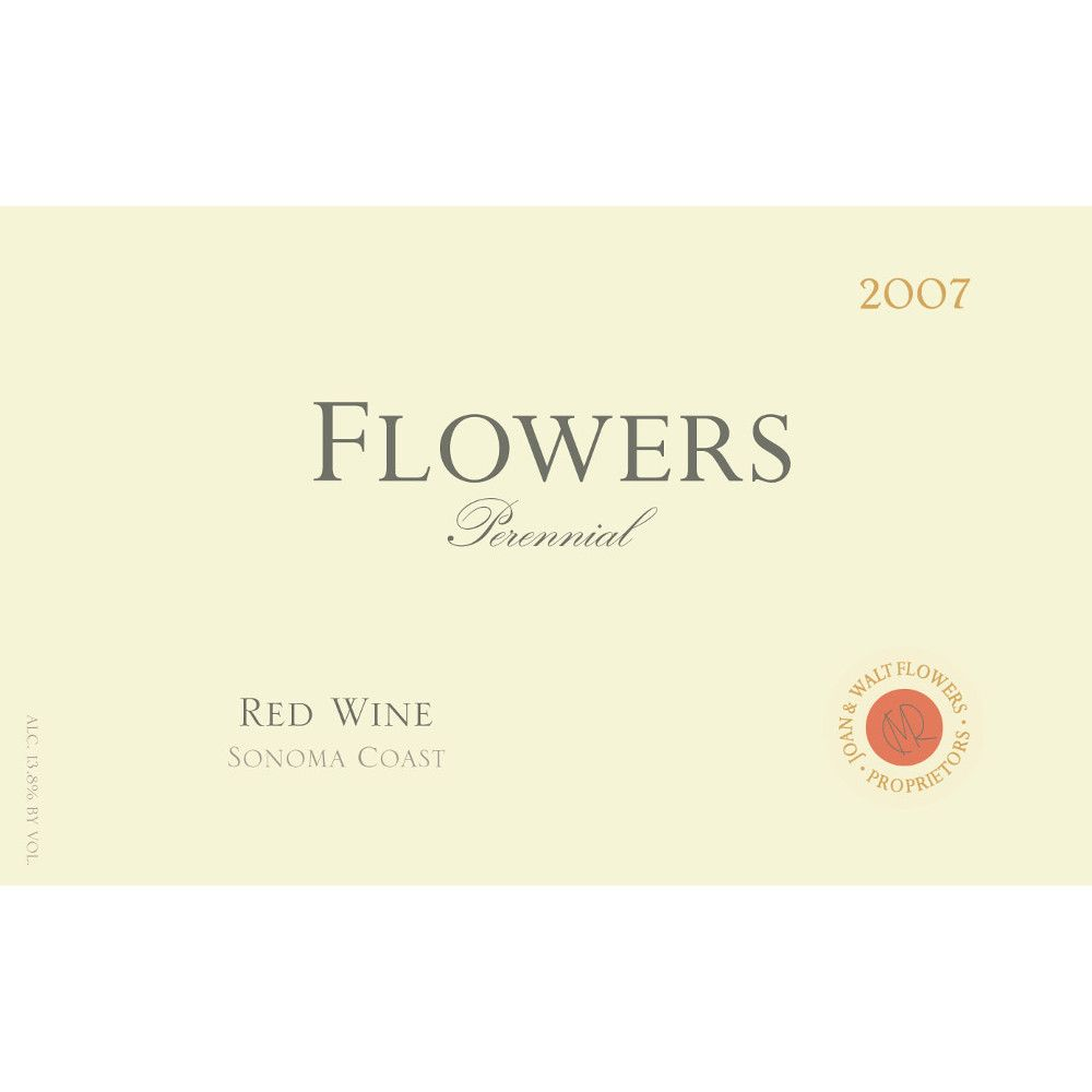 Flowers Perennial Red Blend 2007 Front Label