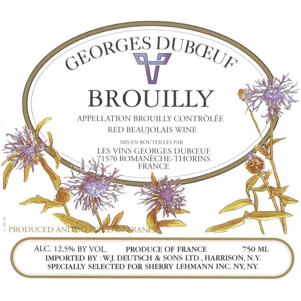Duboeuf Brouilly 2008 Front Label
