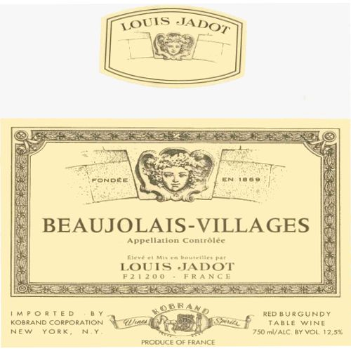 Louis Jadot Beaujolais Villages 2008 Front Label