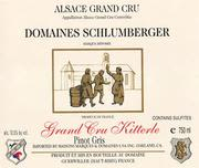 Domaines Schlumberger Kitterle Grand Cru Pinot Gris 1997 Front Label