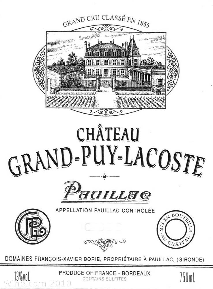 Chateau Grand-Puy-Lacoste  2004 Front Label