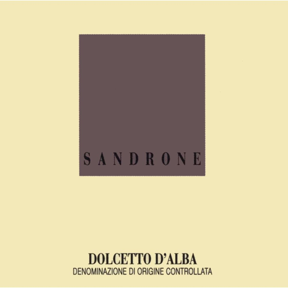 Sandrone Dolcetto 2007 Front Label