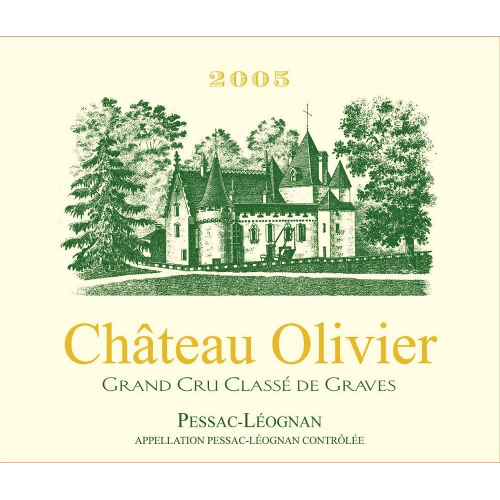 Chateau Olivier Blanc 2005 Front Label