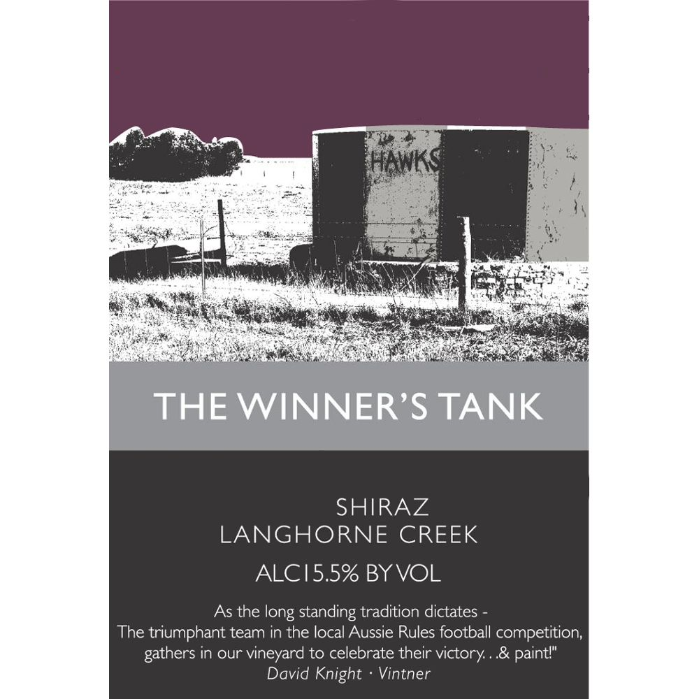 The Winner's Tank Shiraz 2008 Front Label