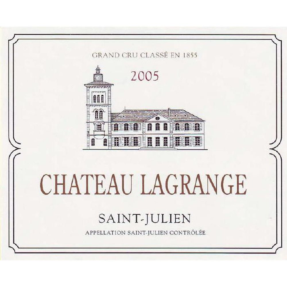 Chateau Lagrange  2005 Front Label