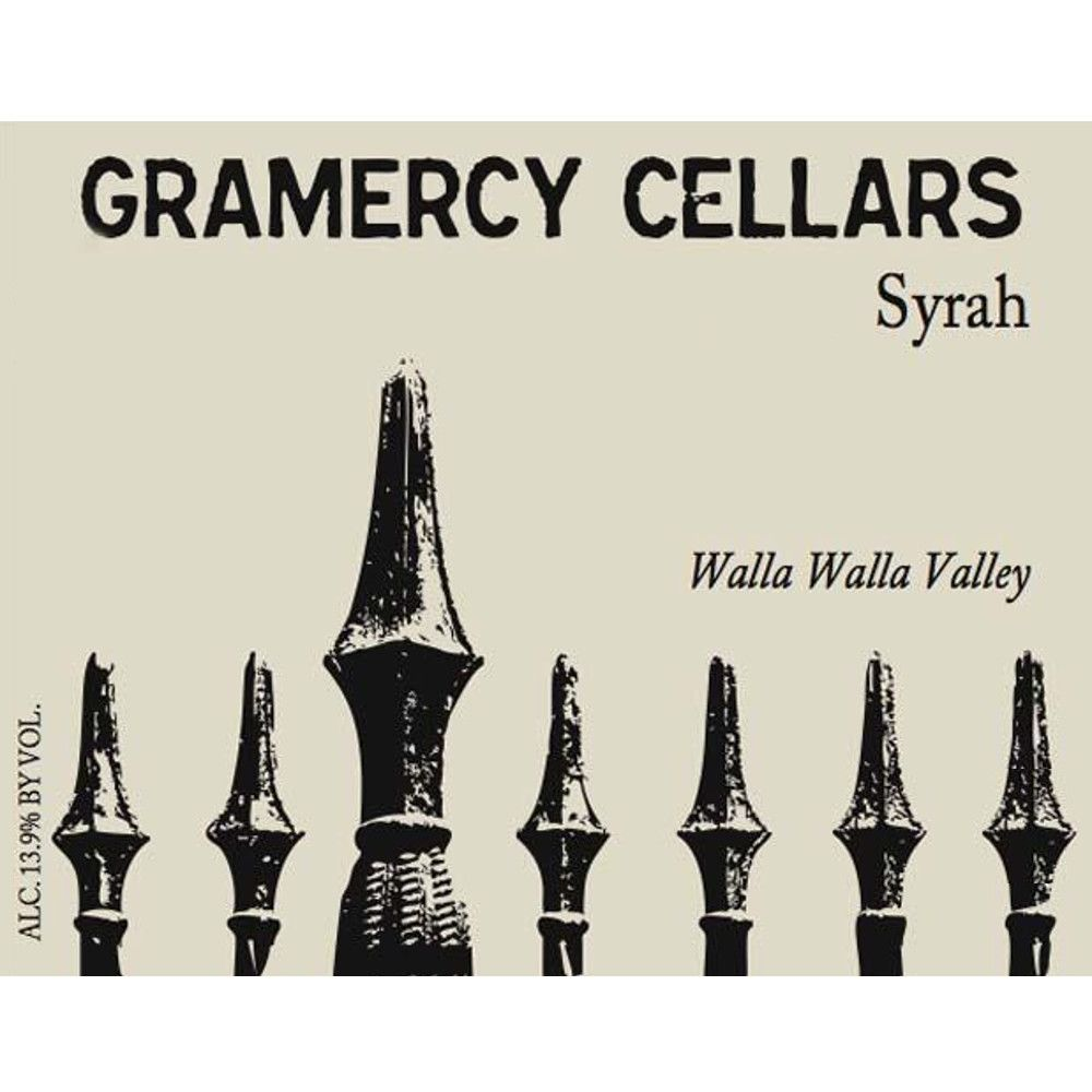 Gramercy Cellars Walla Walla Syrah 2007 Front Label