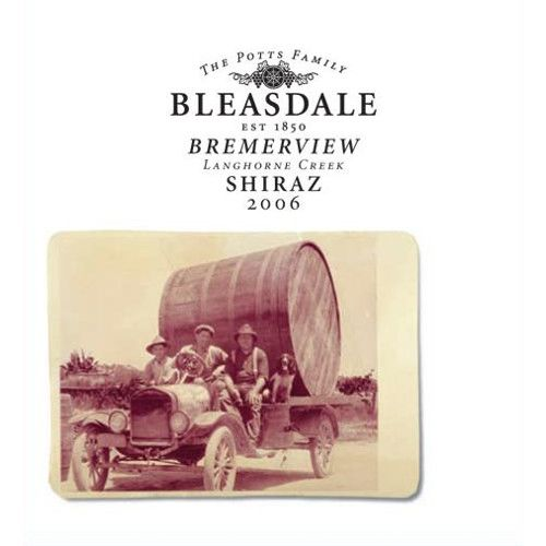 Bleasdale Bremerview Shiraz 2006 Front Label