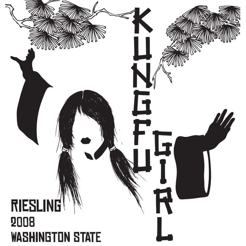Charles Smith Kung Fu Girl Riesling 2008 Front Label