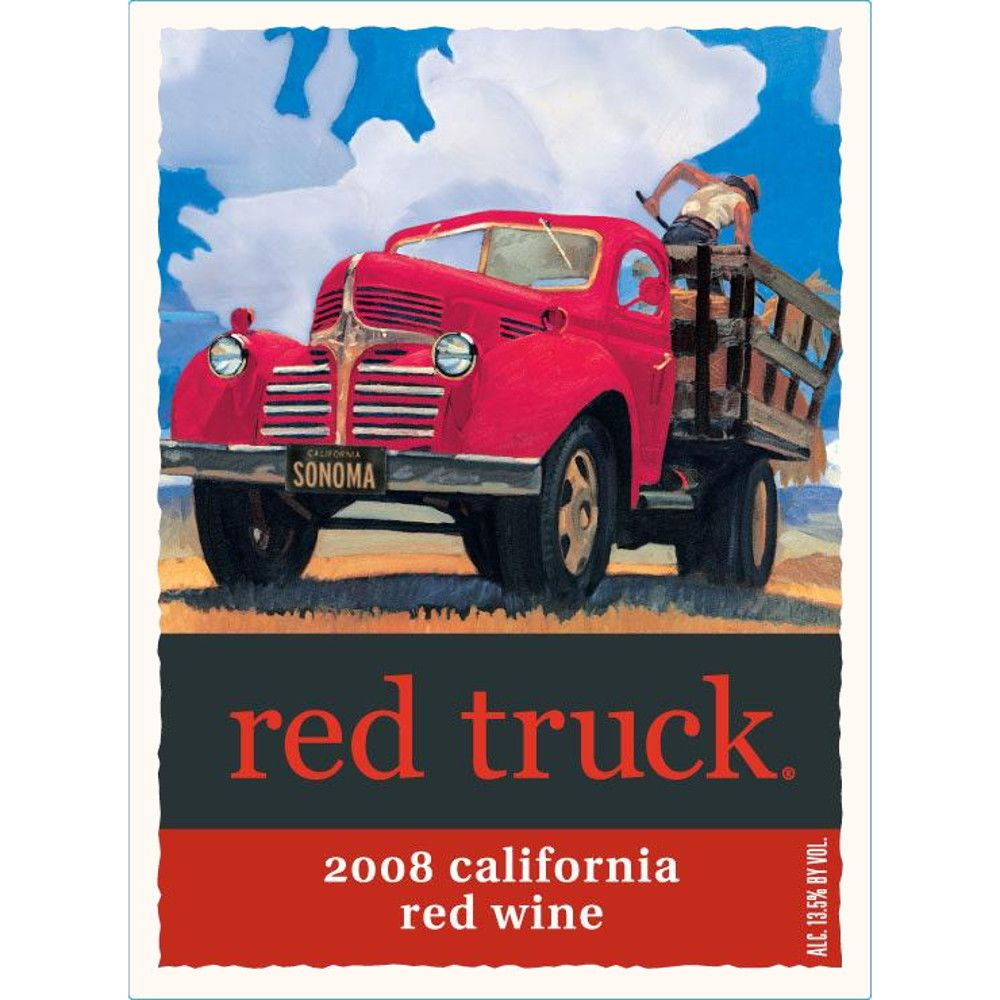 Red Truck Winery Red Blend 2008 Front Label