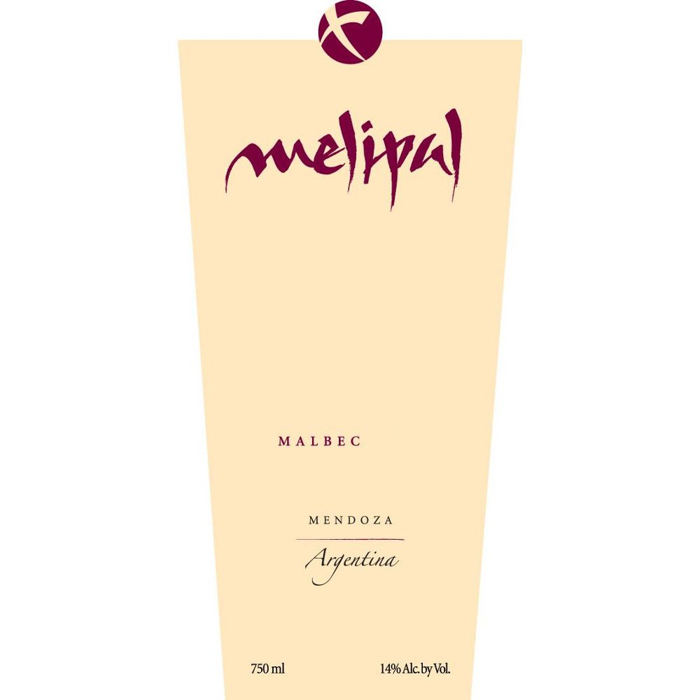 Melipal Malbec 2007 Front Label