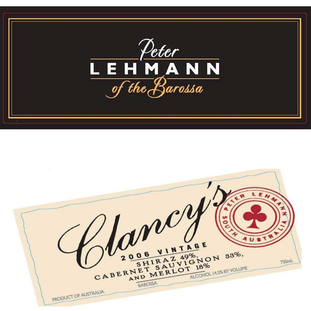 Peter Lehmann Clancy's 2006 Front Label