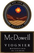 McDowell Viognier 1997 Front Label