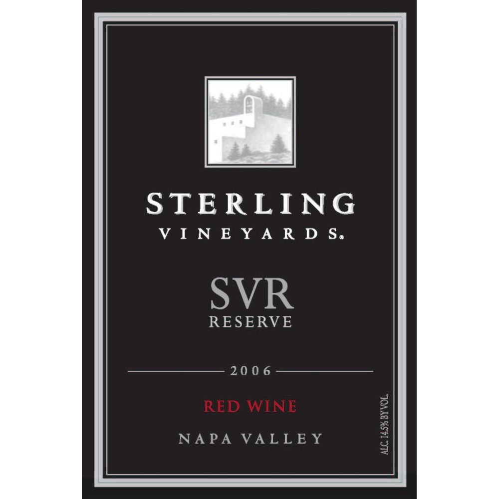 Sterling SVR Reserve 2006 Front Label